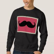 Funny Black Mustache Sweatshirt
