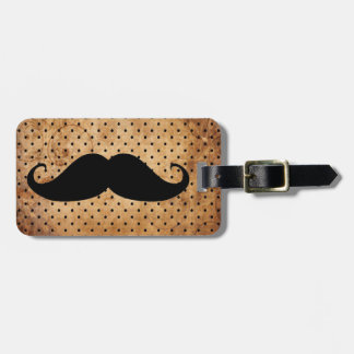 Funny Black Mustache Tag For Luggage