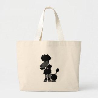 Funny Black Poodle Art Original Jumbo Tote Bag