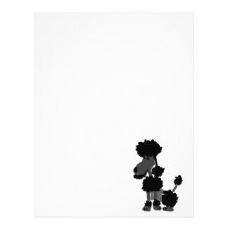 Funny Black Poodle Art Original Letterhead