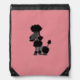 Funny Black Poodle Dog Art Backpack