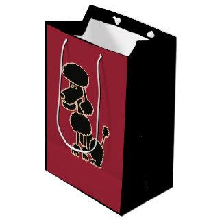 Funny Black Poodle Gift Bag Medium Gift Bag