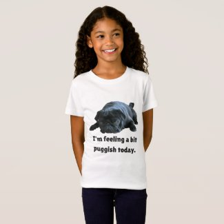 Funny Black Pug T-Shirt