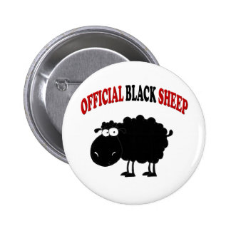 Funny black sheep 2 inch round button