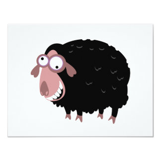 Funny Black Sheep 4.25x5.5 Paper Invitation Card