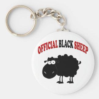 Funny black sheep basic round button keychain