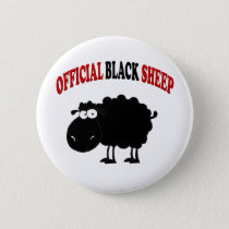Funny black sheep button