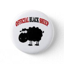 Funny black sheep button