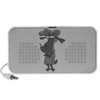 funny black sheep cartoon character portable speaker
