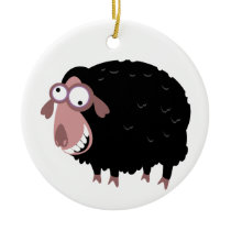 Funny Black Sheep Ceramic Ornament