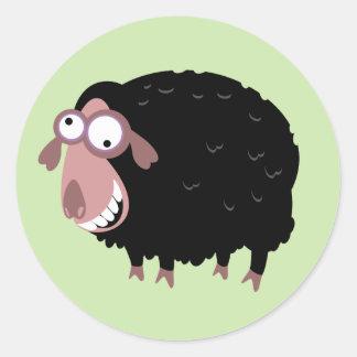 Funny Black Sheep Classic Round Sticker