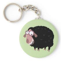 Funny Black Sheep Keychain