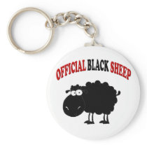 Funny black sheep keychain
