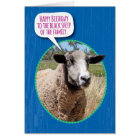 Funny Black Sheep of the Family Birthday Card