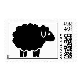 Funny black sheep postage stamp