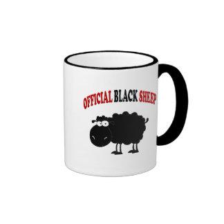 Funny black sheep ringer coffee mug
