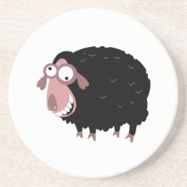 Funny Black Sheep Sandstone Coaster