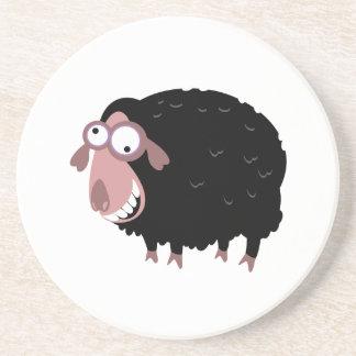 Funny Black Sheep Sandstone Coaster