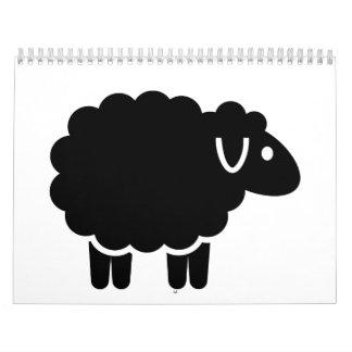 Funny black sheep calendar