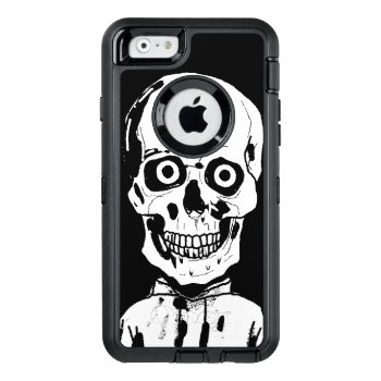 Funny Black Skull Otterbox Defender Iphone Case by PedroVale at Zazzle