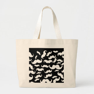 Funny Black Stache Canvas Bag