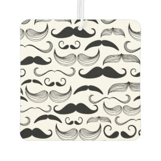 Funny Black & White Mustache Design Car Air Freshener