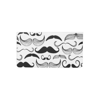 Funny Black & White Mustache Design Checkbook Cover