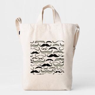 Funny Black & White Mustache Design Duck Bag