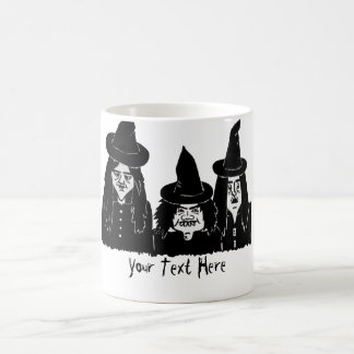 funny black witches spooky scary halloween design magic mug