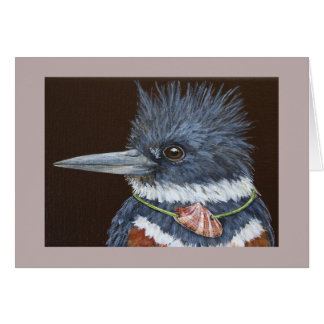 Funny Blanche the kingfisher card