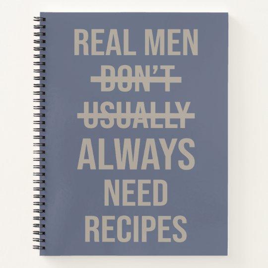 Funny Blank Recipe Book Gag Gift for Men