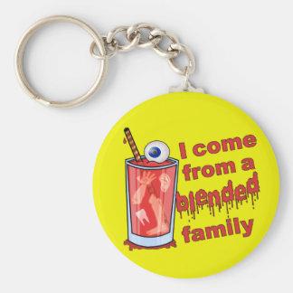 Funny Blended Family Pun Keychain
