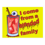 Funny Blended Family Pun Postcard