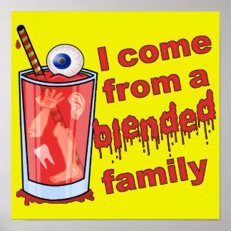 Funny Blended Family Pun Poster