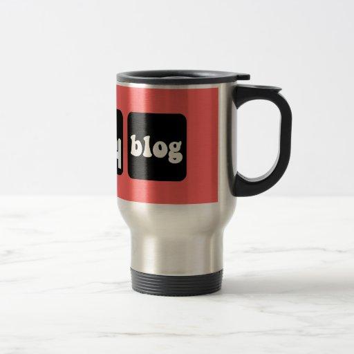 Funny blogger 15 oz stainless steel travel mug