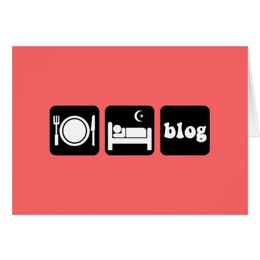 Funny blogger card