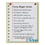 Funny Blogger Quotes Print