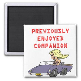 funny blond divorce joke 2 inch square magnet