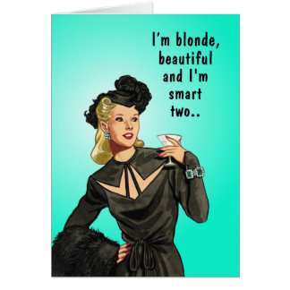 Funny Blonde Spelling Error Greeting Card