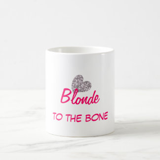 Funny Blonde to the Bone Quote Classic White Coffee Mug
