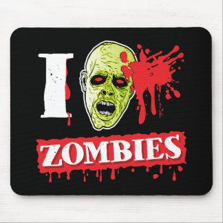 Funny Blood Spattered Zombie Mouse Pad