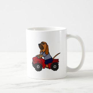 Funny Bloodhound Driving Red ATV Coffee Mug