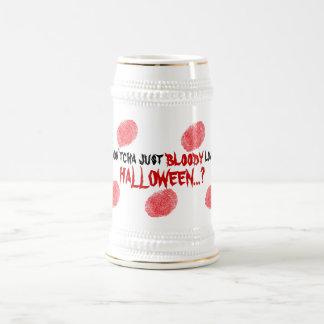 Funny Bloody Fingerprint Halloween Party Beer Mug