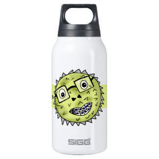 Funny blow fish insulated water bottle