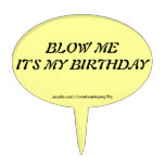 Funny Blow Me Cake Topper