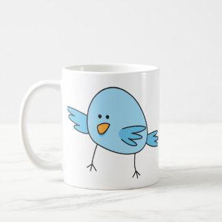 Funny blue bird kids animal cartoon mug
