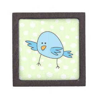 Funny blue bird kids animal cartoon premium jewelry boxes