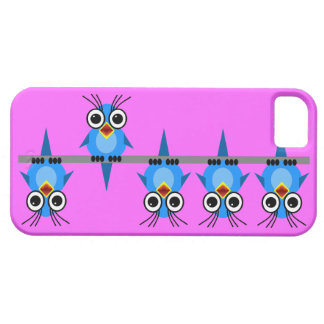 funny blue birds iPhone 5 cover