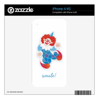 funny blue clown iPhone 4 decal