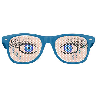 Funny Blue Eyes Glasses